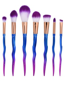 Fashion Multi-color Sword Shape Decorated Brush (7pcs)