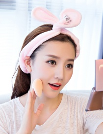 Cute Pink Bowknot Decorated Washing Face Hair Band