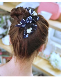 Elegant Navy Bowknot Decorated Hairpin
