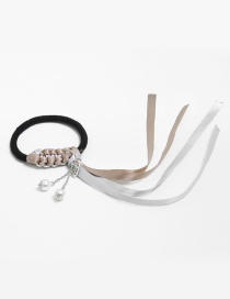 Personality Gray Hand-woven Decorated Hair Band