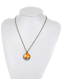 Fashion Yellow Poke Ball Decorated Necklace