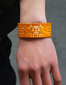 Fashion Orange Taurus Pattern Decorated Simple Constellation Bracelet