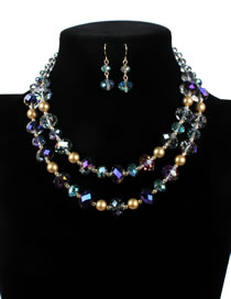 Luxury Purple Round Shape Decorated Jewelry Sets