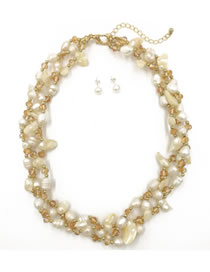 Personality White Color-matching Decorated Necklace