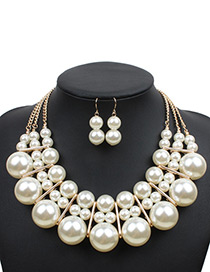 Elegant White Pure Color Decorated Jewelry Sets