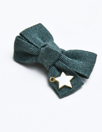 Cute Green Bowknot Decorated Children Hairpin