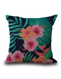 Fashion Multi-color Flower Pattern Decorated Simple Pillowcase