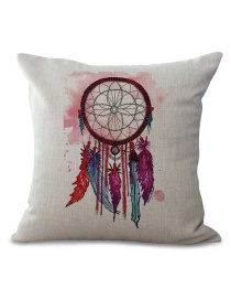 Fashion Multi-color Feather Pattern Decorated Simple Pillowcase