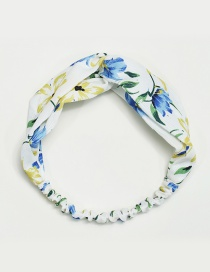Fashion White+yellow Flower Pattern Decorated Simple Hair Hoop