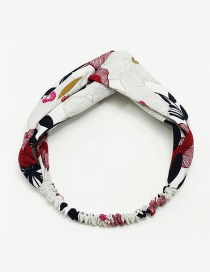 Fashion White+red Flower Pattern Decorated Simple Hair Hoop