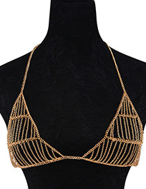 Fashion Gold Color Pure Color Decorated Simple Body Chain