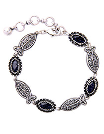 Fashion Antique Silver Fish Shape Decorated Simple Bracelet