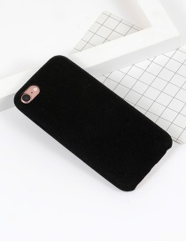 Fashion Black Pure Color Decorated Simple Iphone7 Case
