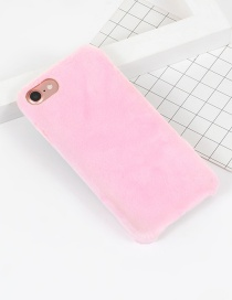 Fashion Pink Pure Color Decorated Simple Iphone7 Case