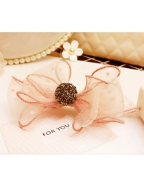 Lovely Pink Bowknot Decorated Pure Color Hairpin
