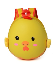 Lovely Yellow Cartoon Egg Shape Decorated Waterproof Backpack