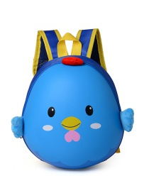 Lovely Blue Cartoon Egg Shape Decorated Waterproof Backpack
