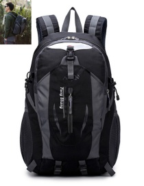 Lovely Black Letter Pattern Decorated Travel Backpack
