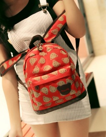 Lovely Red Bears Pattern Decorated Travel Backpack