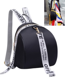 Fashion Silver Color Colored Ribbon Decorated Simple Backpack