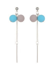 Fashion Multi-color Ball Decorated Simple Earrings