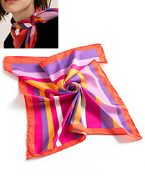 Fashion Multi-color Color-matching Decorated Scarf