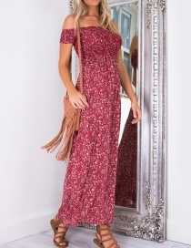 Lovely Red Off Shoulder Decorated Long Dress
