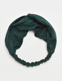Fashion Dark Green Pure Color Decorated Hair Band