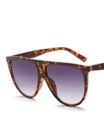 Fashion Coffee Color-matching Decorated Sunglasses