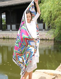 Fashion Multi-color Geometry Decorated Scarf