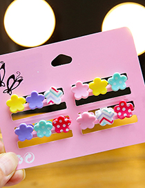 Fashion Multi-color Waves Pattern Decorated Hair Clip (12 Pcs)