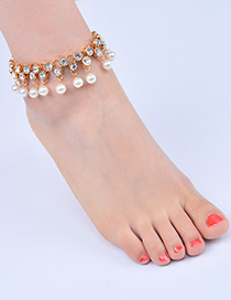 Fashion Gold Color Tassel Decorated Anklet