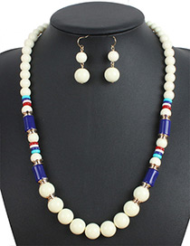 Bohemia Beige Beads Decorated Simple Jewelry Sets