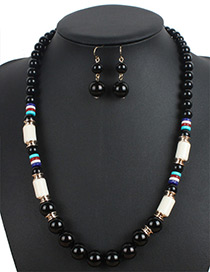 Bohemia Black Beads Decorated Simple Jewelry Sets