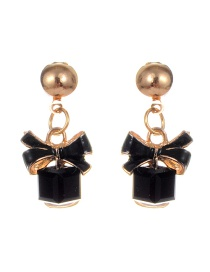 Fashion Black Bowknot Shape Decorated Earrings
