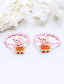 Lovely Orange Little Pigs Decorated Hair Band(2pcs)