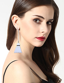 Fashion White Badminton Decorated Earrings