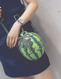 Fashion Green Watermelon Shape Design Shoulder Bag