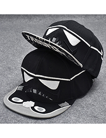 Trendy Black Star Wars Pattern Decorated Hip-hop Cap(adjustable)