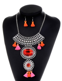 Fashion Silver Color Tassel&diamond Decorated Jewelry Sets