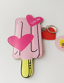 Fashion Pink Ice-cream Decorated Coin Purse