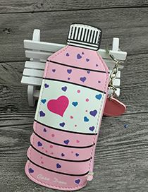 Fashion Pink Bottle Decorated Coin Purse