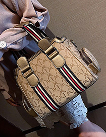 Fashion Gold Color Color-matching Decorated Bag