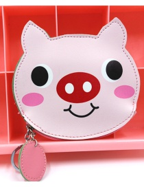 Cute Pink Pig Shape Decorated Coin Purse