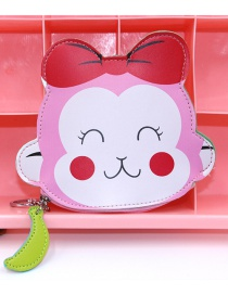 Cute Pink Monkey Shape Decorated Coin Purse