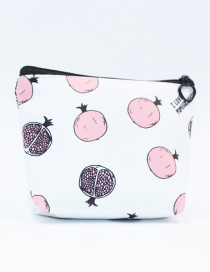 Cute White Pomegranate Pattern Decorated Pencil Case