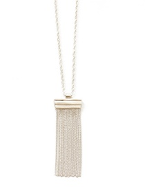Fashion Silver Color Tassel Decorated Necklace