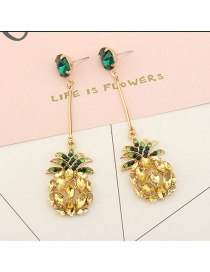 Fashion Yellow Banana Pendant Decorated Long Earrings