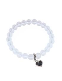 Fashion White Heart Shape Decorated Bracelet