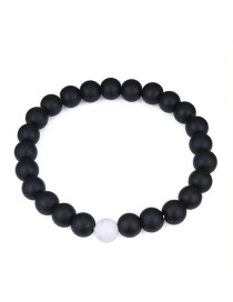 Fashion Black Pure Corlor Decorated Bracelet